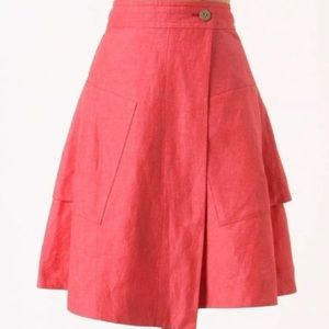 Anthropologie Postmark Vast Wrap Skirt